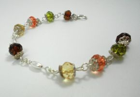 Fired Glass Bracelet by Dragon-Factor