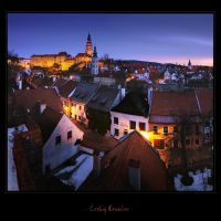 - Cesky Krumlov at night - by UNexperienced