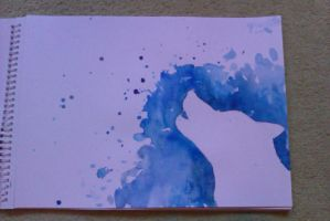 Splatter painting 1: wolf by cool-a-llama