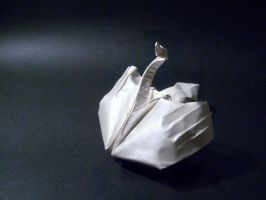 Swan - Origami by mitanei