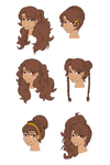 The many hairstyles of Erika by Foxgirl95