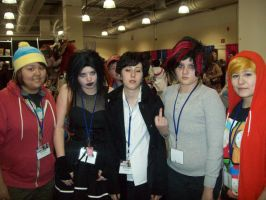 Cartman, Kenny, and the Goth Kids by cuteasianprincess