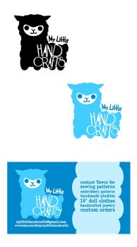 My Little Hand Crafts Logo and Business Card by AnnieLH