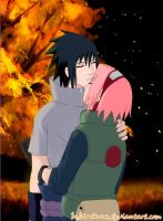 SasuSaku spark the flame of the heart by byBlackRose