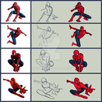 spiderman sketches by C0UGHDR0P
