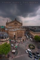 Storm Above The Opera by Linkineos