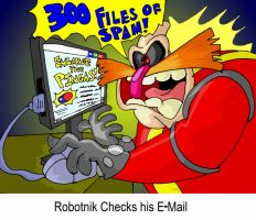 Robotnik checks his E-Mail by mightyfilm