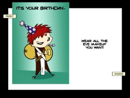 Gaara Birthday Card by Rakshar