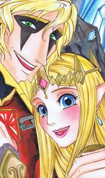 Princess Zelda and Volga by HisBelovedPrincess
