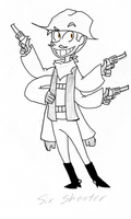 Six Shooter by StripedSweater10