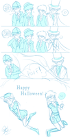 Late Halloween Comic -Rough- by Kirite