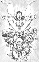 JLA Pencils by spunkbrat
