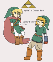 All different Link part 1 by Dustyfootwarrior