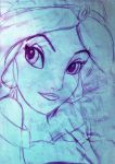 Jasmine sketch by silvarablack