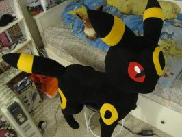 1:1 Umbreon plush by aSourLemon