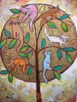 Cats Lounge In Tree by usartdude