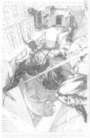 Batman vs Cptn America pencils by Lawbringer-Vypr
