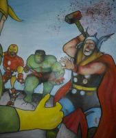 MARVEL ZOMBIES AVENGERS UNEARTHED CONCEPT by BUMCHEEKS2