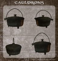 3D Cauldrons by zememz