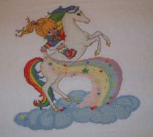 rainbow brite cross stitch by eevilkat
