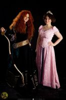 Rapunzel and Merida: Dream team by leviceversailles