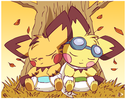 Sleeping Babies by pichu90