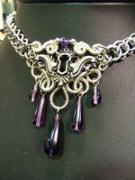 Amethyst and purple Keyhole necklace by BacktoEarthCreations