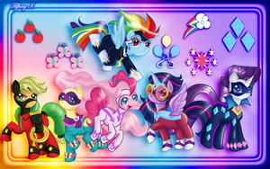 MLP - Power Ponies by iTiffanyBlue