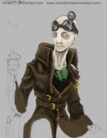Steampunk Sniper - partial by chillier17