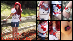 Hello Kitty Themed Outfit of the Day by KrazyKari