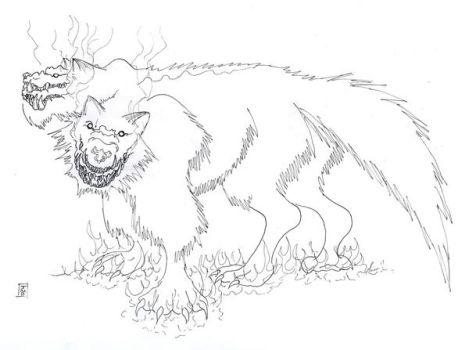 Everto Canis Lineart by SpecimenA