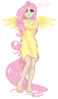 Fluttershy colors by AphexAngel