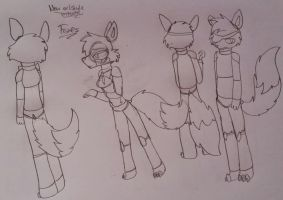 - FNAF new artstyle   Foxes  - by Dil-Gil