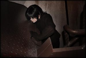 B: The Thing on the Stairs by Maru-Light