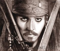 Captain Jack Sparrow II by ebonita