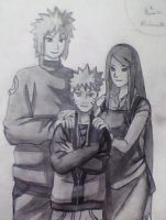 Naruto and His Parents by Nelphyta