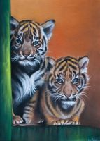 Tiger Cubs. by Rayvenjan