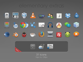 elementary extras Icons by spg76