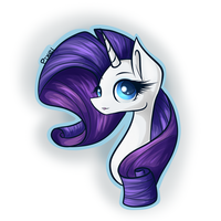 Rarity Bust (Experiment) by PonyBytes