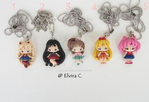 Sailor necklaces by elvira-creations