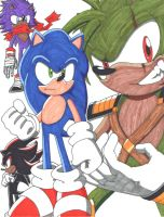 Sonic and others Colored by ninetailz3000