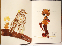 Sketchbook Project KFox by j-b0x