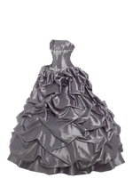 Silver Grey Ball Gown PNG by Vixen1978