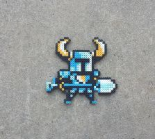 Shovel Knight - Video Game Perler Bead Sprite by MaddogsCreations