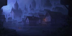 Old town 3 by WiredHuman