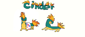 Cinder, my quilava by coolsarahkry
