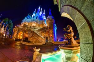 Cinderella's Castle Fisheye by shaderf
