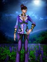 Purple field by Lady-Lili