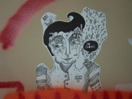 'the king' paste up, art swap by taxidermy-lessons