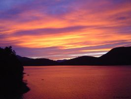 Marlborough Sounds Sunset 1 by Easel